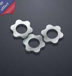 gears icon symbol 3D style Trendy modern design vector image