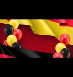 germany patriotic banner with space for text vector image