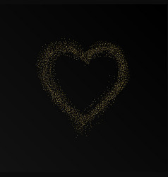glitter heart frame happy valentines day vector image
