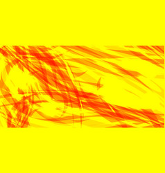 glowing yellow background of red threads and vector image