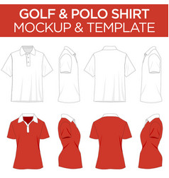 Golfpolo shirt - template mockup vector