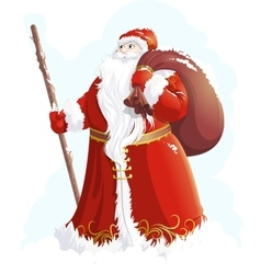 Grandfather Frost painted on a white background vector image