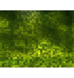 Green Background With cubes vector image