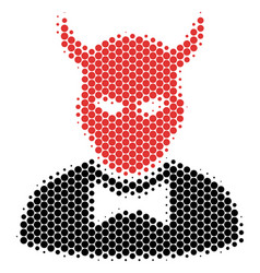 halftone dot devil icon vector image