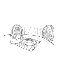 Hand Drawn Interior vector