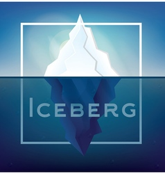 Iceberg on Blue Background vector