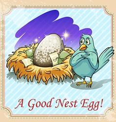 Idiom good nest egg vector image