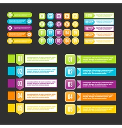 Infographics steps for business presentation vector image