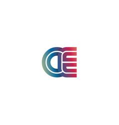 initial letter creative ce design logo vector image