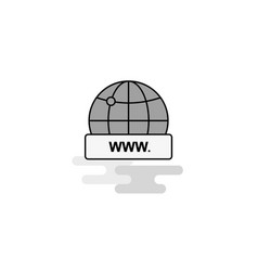 internet web icon flat line filled gray icon vector image