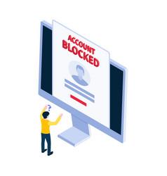Isometric blocking icon vector
