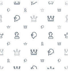 King icons pattern seamless white background vector