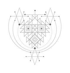 magic alchemy symbol geometric logo for vector image