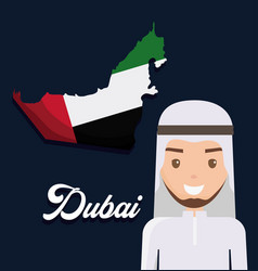 map of united arab emirates cartoon vector image