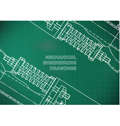 mechanical engineering drawings background for vector image