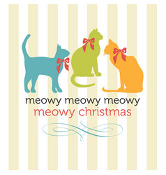 Meowy christmas cats vector