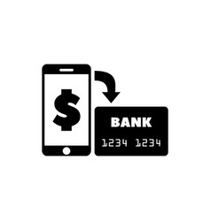 mobile payment transfer money flat icon vector image
