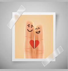 modern colorful vertical love motive photo frame vector image