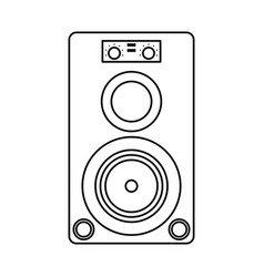 Musical speaker audio stereo thin line vector