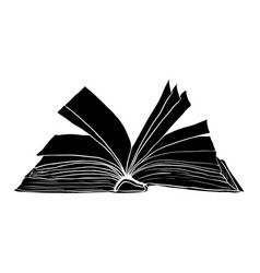 open book symbol icon design beautiful isolated vector image