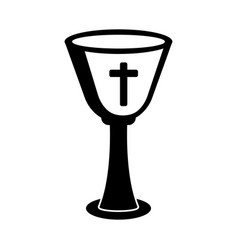 Outline a chalice vector