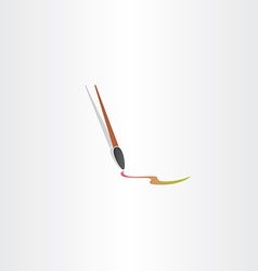 Paint brush icon color design vector