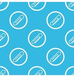 Paperclip sign blue pattern vector image
