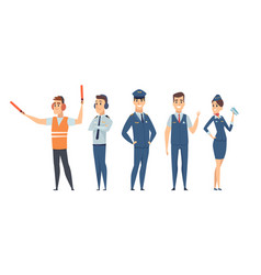 pilots avia company persons crew vector image