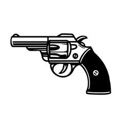 Pistol vintage tattoo concept vector