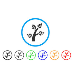 plant tree rounded icon vector image