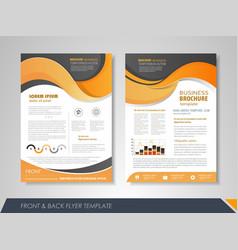 presentation flyer design vector image
