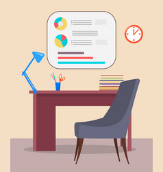 psychotherapist workplace a table and a chair vector image