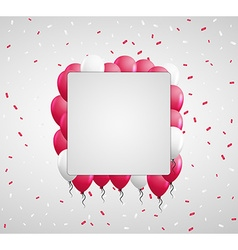 Red balloons and confetti vector
