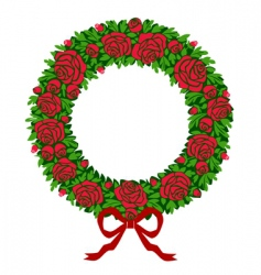 red roses wreath vector image