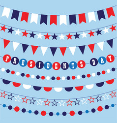 Red white blue bunting vector