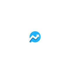 round arrow progress sign logo vector image