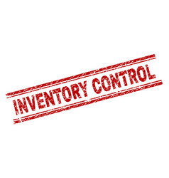 Scratched textured inventory control stamp seal vector