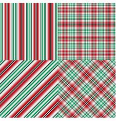 set abstract seamless christmas patterns vector image