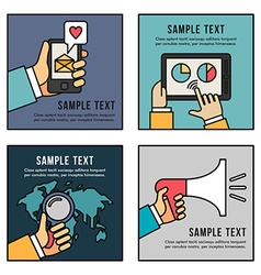 Set flat business promotion searching vector