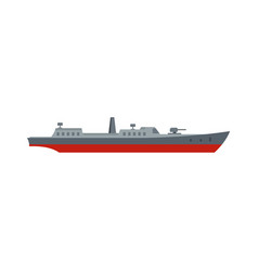 Ship combat icon flat style vector