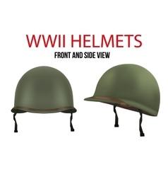 Side view of Military US helmet M1 WWII vector