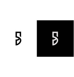 Simple and modern s logo design vector