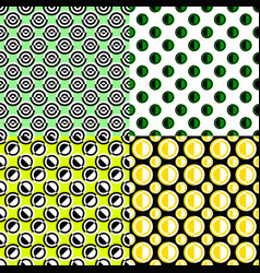 Simple repeating pattern set - circle background vector