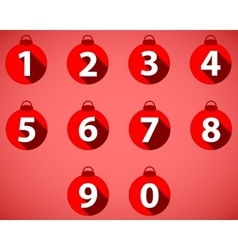 The numbering in the style of christmas balls vector