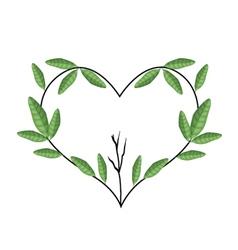 Tree Branch in Heart Shape Wreath vector