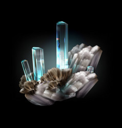 Untreated aquamarine vector
