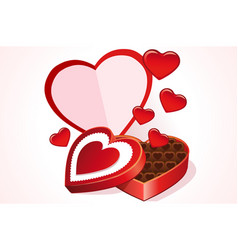 valentine gift card vector image