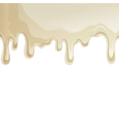 White chocolate drips background vector
