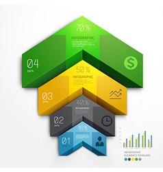 3d arrow infographics diagram business template vector image