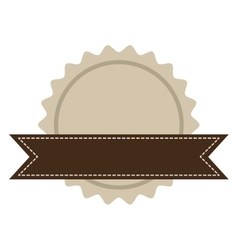 brown seal stamp vector image vector image